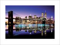 Brooklyn Bridge Colour Kunstdruk 80x60cm