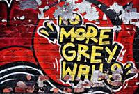 No More Grey Walls Vlies Fotobehang 384x260cm 8-banen