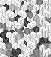 Cube Blocks Vlies Fotobehang 225x250cm 3-banen