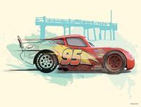 Cars Lightning McQueen Kunstdruk 40x30cm