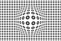 Dots Black and White Vlies Fotobehang 384x260cm 8-banen