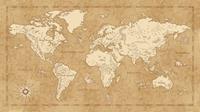 Vintage World Map Vlies Fotobehang 500x280cm 10-banen
