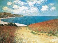 PGM Claude Monet - Meadow Road to Pourville 1882 Kunstdruk 80x60cm