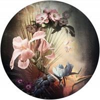 Komar Flemish Flowers Vlies Fotobehang 125x125cm rond