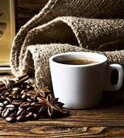 Cup of Coffee Vlies Fotobehang 225x250cm 3-banen