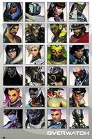 Overwatch Character Portraits Poster 61x91,5cm