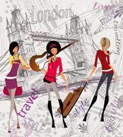 London Style Vlies Fotobehang 225x250cm 3-banen