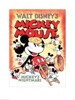 Mickey Mouse Mickeys Nightmare Kunstdruk 60x80cm