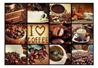Coffee Collage Vlies Fotobehang 400x280cm