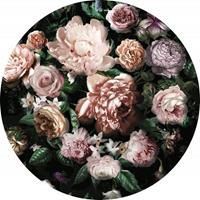Komar Flower Couture Vlies Fotobehang 125x125cm rond
