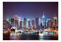 Night in New York City Vlies Fotobehang 100x70cm