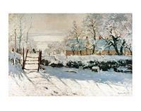 PGM Claude Monet - La pie Kunstdruk 70x50cm