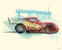 Cars Lightning McQueen Kunstdruk 50x40cm