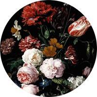 Wizard+Genius Vase of Flowers Vlies Fotobehang 140x140cm rond