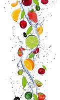 Fruits in Water Vlies Fotobehang 150x250cm 2-banen