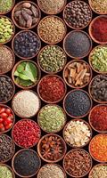 Spice Bowls Vlies Fotobehang 150x250cm 2-banen