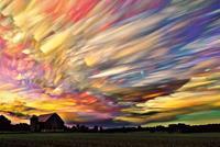 Pyramid Sunset Spectrum Poster 91,5x61cm