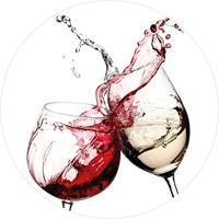 Wizard+Genius Wine Glasses Vlies Fotobehang 140x140cm rond