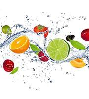 Dimex Fruits in Water Vlies Fotobehang 225x250cm 3-banen