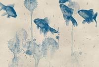 Wizard+Genius Blue Fish Vlies Fotobehang 384x260cm 8-banen