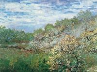 PGM Claude Monet - Bäume in Blüte Kunstdruk 80x60cm