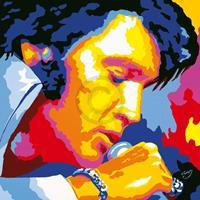 Vladimir Gorsky - Elvis Kunstdruk 85x85cm