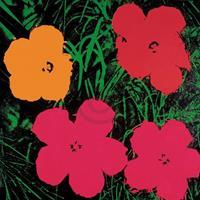 Andy Warhol - Flowers C. 1964 Kunstdruk 60x60cm