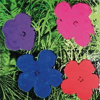 Andy Warhol - Flowers C. 1984 Kunstdruk 60x60cm