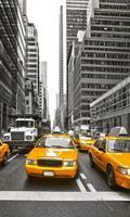 Yellow Taxi Vlies Fotobehang 150x250cm 2-banen