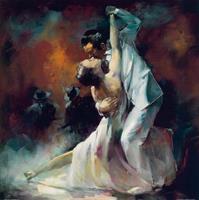 Willem Haenraets - Tango Argentino I Kunstdruk 70x70cm