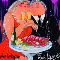 El van Leersum - True Love Kunstdruk 70x70cm