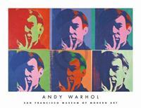 Andy Warhol - A Set of Six Self-Portraits Kunstdruk 86x66cm