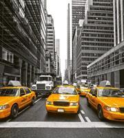 Yellow Taxi Vlies Fotobehang 225x250cm 3-banen