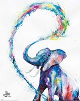 Marc Allante Elephant Poster 40x50cm