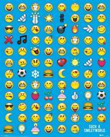 Pyramid Smiley Emoticon Poster 40x50cm