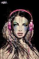 Loui Jover DJ Girl Poster 61x91,5cm
