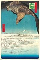 Hiroshige Jumantsubo Plain at Fukagawa Poster 61x91,5cm