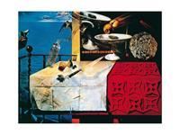 Salvador Dali - Natura morte vivente Kunstdruk 80x60cm