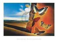 Salvador Dali - Paysage aux Papillons Kunstdruk 80x60cm